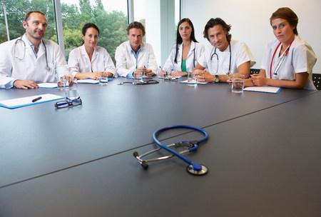 Doctors in conference room Stock fotó