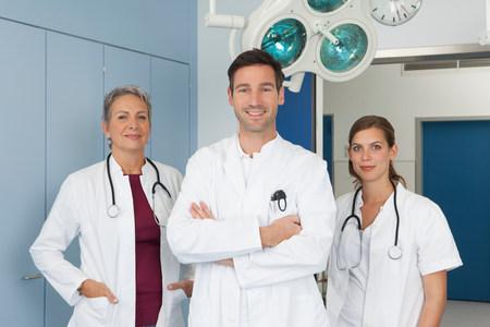 Medical team in hospital, portrait