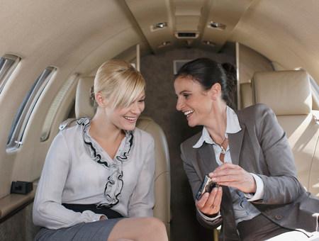 Contended businesswomen Фото со стока