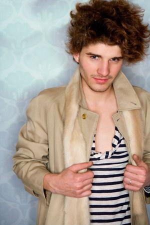 Portrait young fashionable man