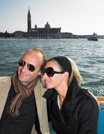 Couple on the sluice of Venice, Italy