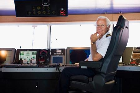 Portrait of a captain Stockfoto