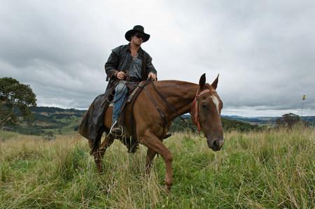 L'homme à cheval en campagne