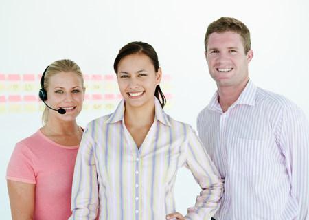 Confident sales team