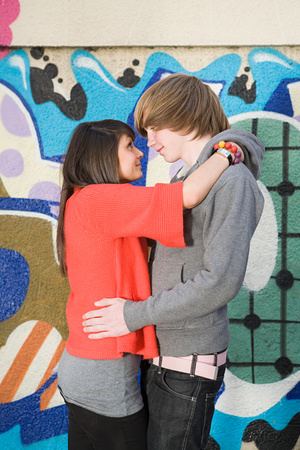 Teenage couple 免版税图像