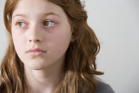 A teenage girl thinking Фото со стока - 116464460