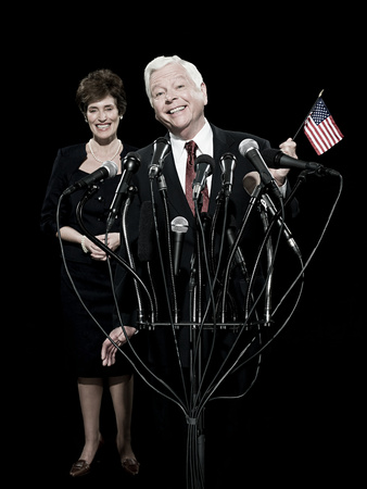 Politician and his wife Stock Photo