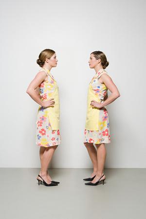 Women facing each other