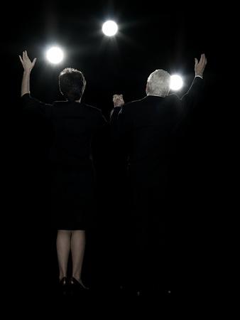 Politicians waving