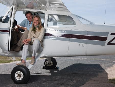 Couple in private aeroplane