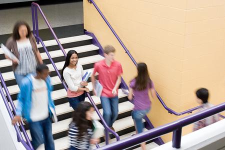 High school students on a stairway Reklamní fotografie