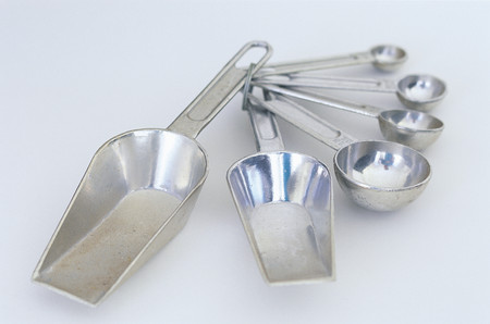 Measuring spoons background.