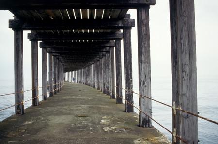 Pier bridge view 免版税图像