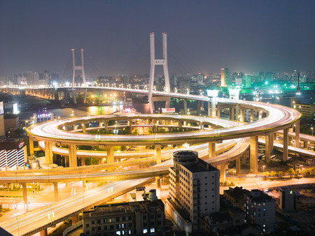 Elevated highway in shanghai