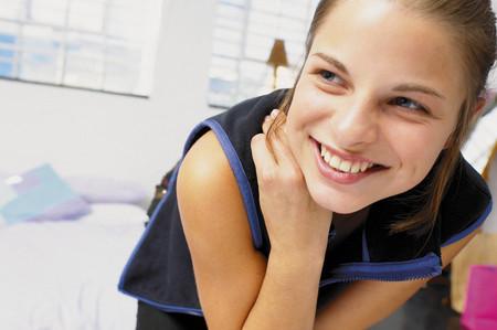 Teenage girl smiling Reklamní fotografie
