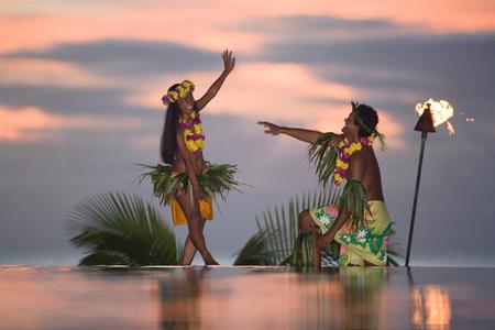 Danseurs Tamure à tahiti