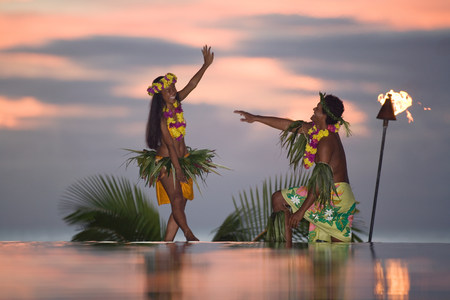 Tamure dancers in tahiti