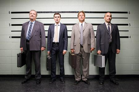 Empresarios en alineación Foto de archivo