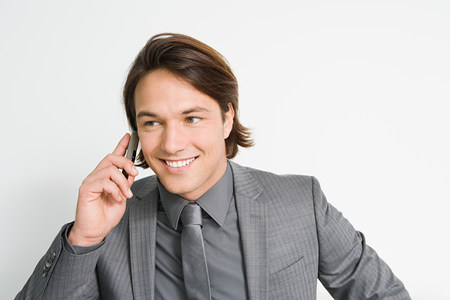 Businessman on cellphone