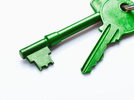 Green house keys Banque d'images