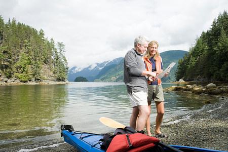 Couple with kayak