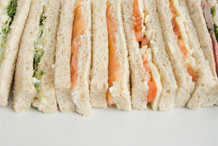 Selection of finger sandwiches