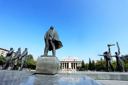 Statue de Lénine Novossibirsk