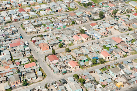 Aerial view of cape town shanty town