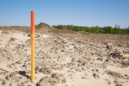 Pfahl auf der Baustelle