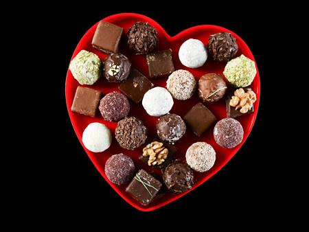 Chocolates in heart shape