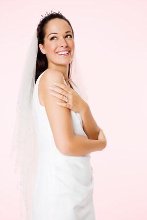 Portrait of a smiling bride