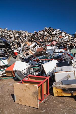 Pile of household scrap Stock fotó