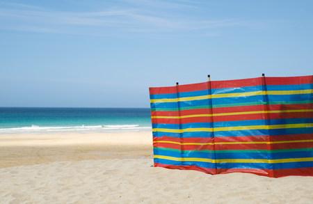 Windbreak on st ives beach