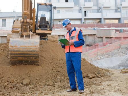 Mature man on construction site