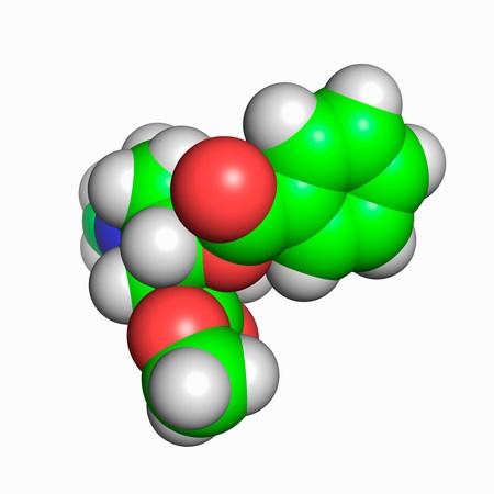 Cocaine molecule Stock Photo