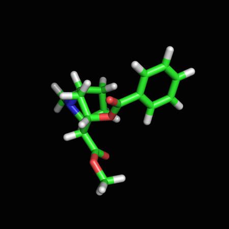 Cocaine molecule background.