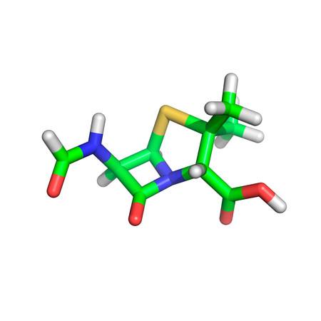 Penicillin molecule Stock Photo