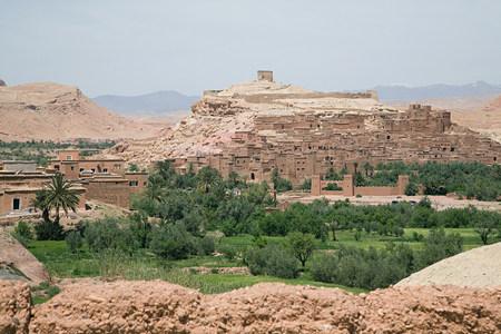 Ait Benhaddou kasbah, Souss-Massa-Draa, Morocco Standard-Bild - 116933631