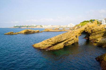 Natural Arch, Grande Plage, Biarritz, Aquitaine, France