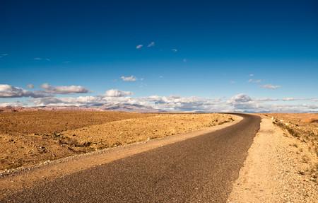 Road to Tamdaght from Ouarzazate, Morocco