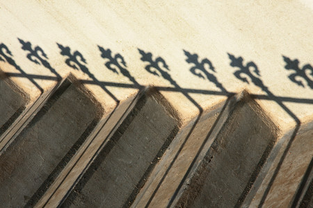 Steps and railing shadow 写真素材