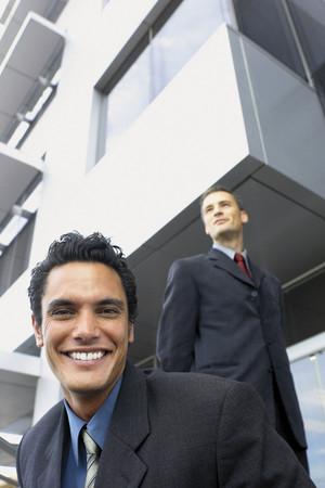 Happy businessman background.