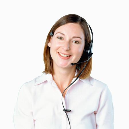 Operador de centro de llamadas Foto de archivo