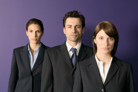Confident looking business people