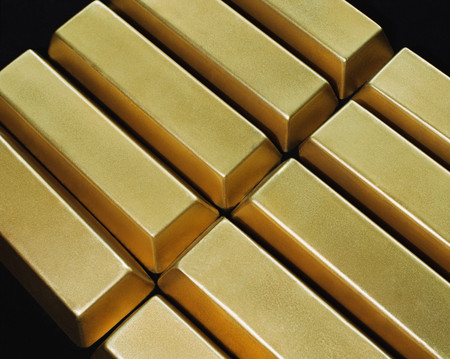 Gold bars background.