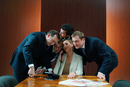 Fun at boardroom meeting