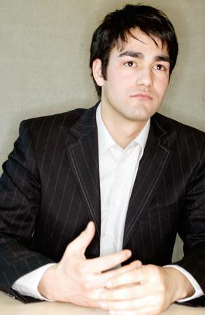 Pensive looking businessman