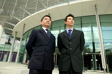 Two asian businessmen