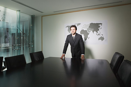 Businessman in a conference room 스톡 콘텐츠