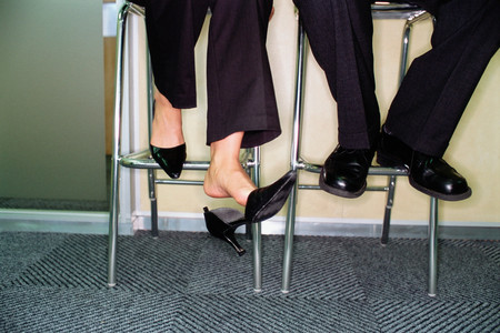 Business people feet